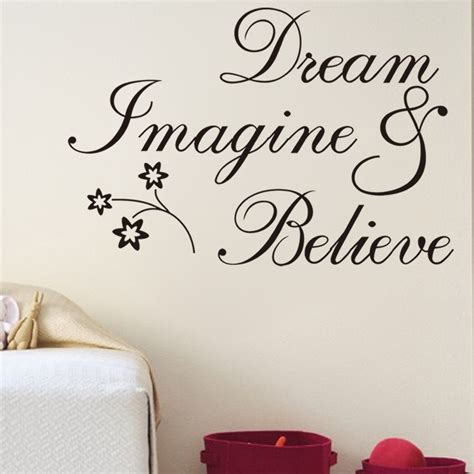 free shipping inspirational words believe removable wall quotes wall sticker word