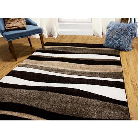 7 ft area rugs home dynamix bazaar zag brown 5 ft 2 in x 7 ft 2
