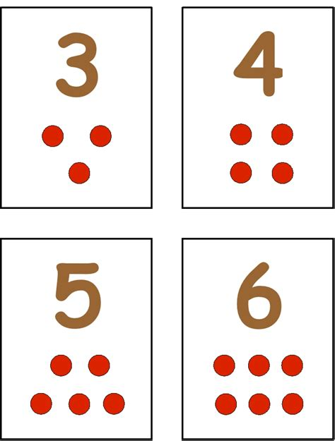 number templates for card cars to the number 3 or minimally flash cards like