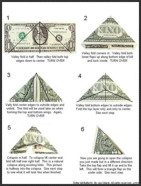butterfly dollar bill origami papercraftsquare new paper craft dollar bill