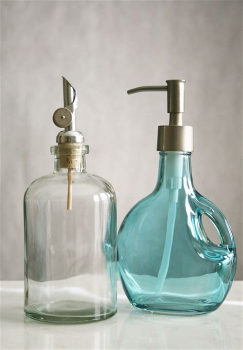 recycled glass bathroom accessories rail19 recycled glass soap dispensers contemporary
