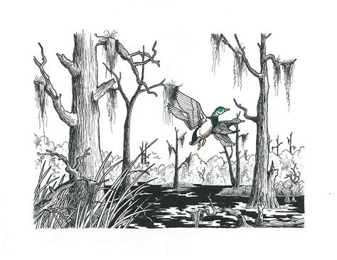 Wood House Plans it s a swamp thing drawing by richard brooks