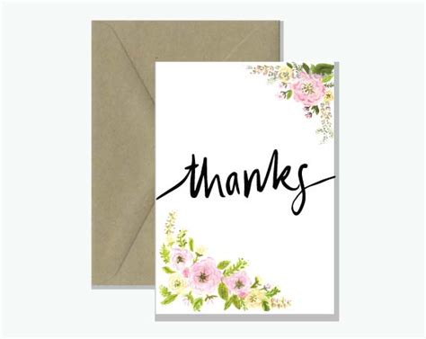greeting cards for thanks floral watercolour greeting card rosie lou
