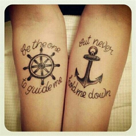 be the one to guide me but never hold me down tattoo