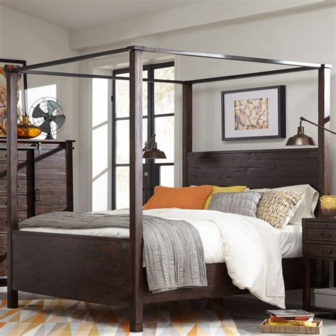 wood canopy bed rustic wood canopy beds www pixshark images