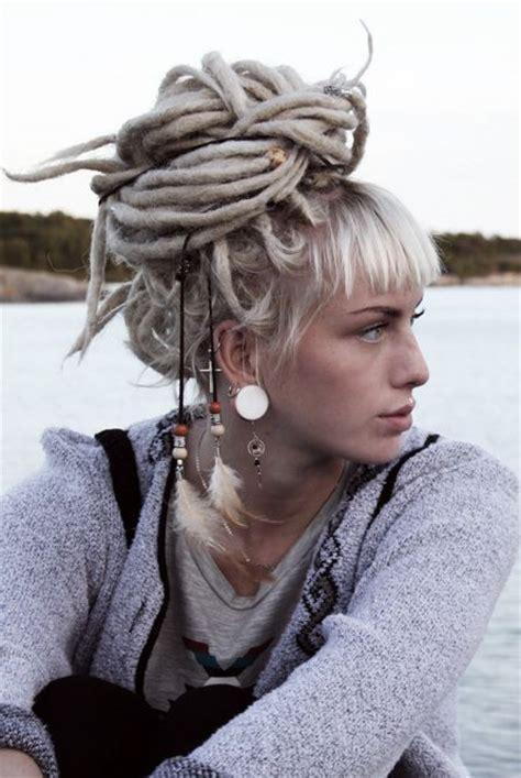 silver dreadlock white dreads rainbow hair
