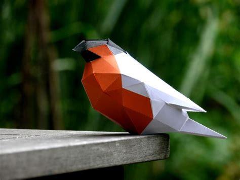 paper craft birds diy low poly papercraft bird sculpture free printable