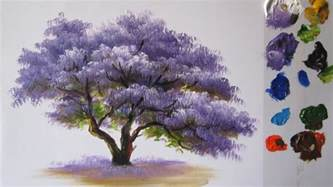 how to paint acrylic how to paint a tree in acrylics lesson 2