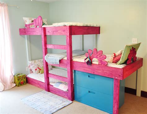 3 bunk beds the handmade dress bunk bed plans