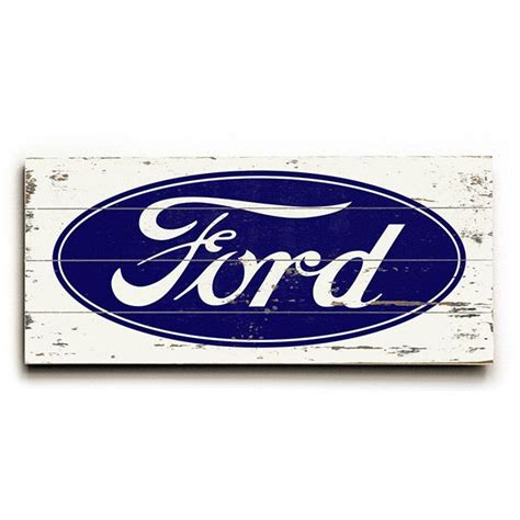 Ford Sign by Blue Ford Oval Sale Sign