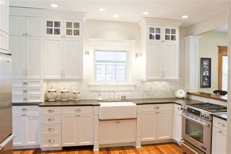 white kitchen cabinets with granite countertops honed black granite countertops design ideas