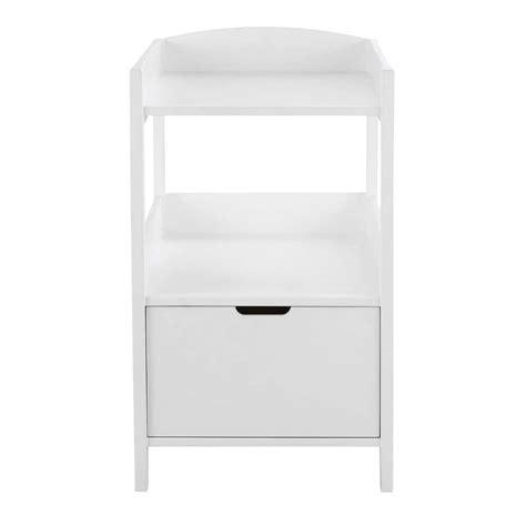 table 224 langer en bois blanc l 80 cm sweet maisons du monde