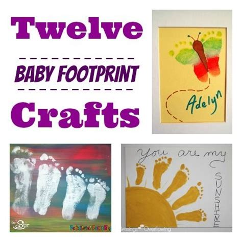 babys crafts 12 clever crafts featuring baby s footprints the stir