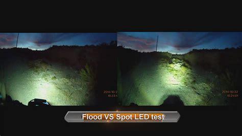 landscape lighting flood vs spot flood vs spot led test motorcycle led light 5qj8h