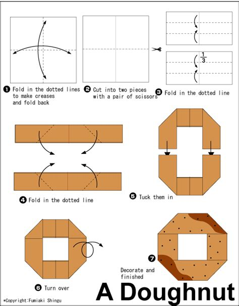 origami food doughnut easy origami for