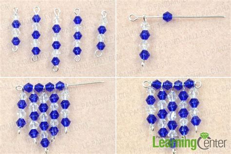 beaded fringe earrings tutorial how to make your own blue beaded fringe earrings