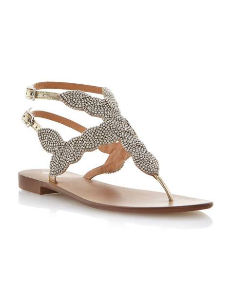 beaded toe sandals dune karper leather beaded toe post sandals in beige
