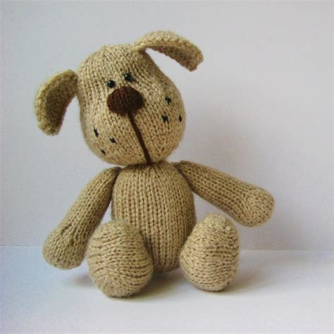 knitted toys patterns free bernie the knitting pattern on luulla
