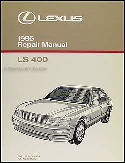 service manual 1996 lexus ls body repair manual lexus gs300 repair manual ebay