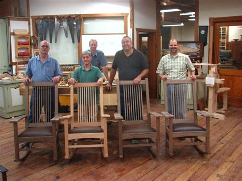 heritage school of woodworking completed rocking chair course heritage school of