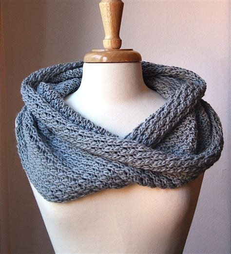 knit an infinity scarf with circular needles infinity scarf knitting pattern circular scarf snood
