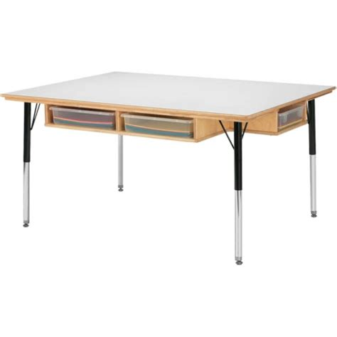 craft table with storage for jonti craft table w storage 6 paper trays jonti