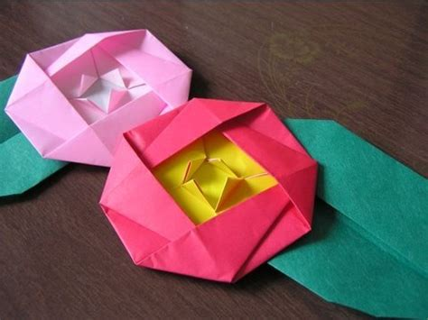 origami camellia japanese traditional origami quot camellia quot