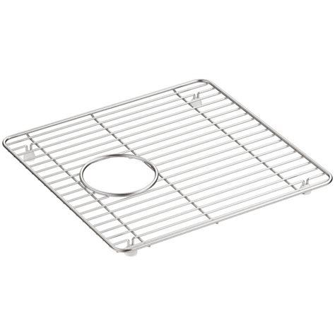 kitchen sink rack kohler cairn 13 75 in x 14 in stainless steel kitchen