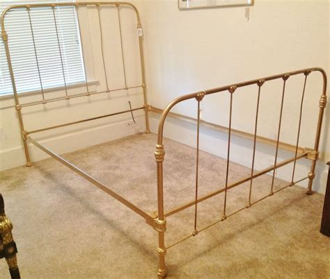 rod iron bed frame antique c 1920 antique cast iron gold painted bed frame ebay