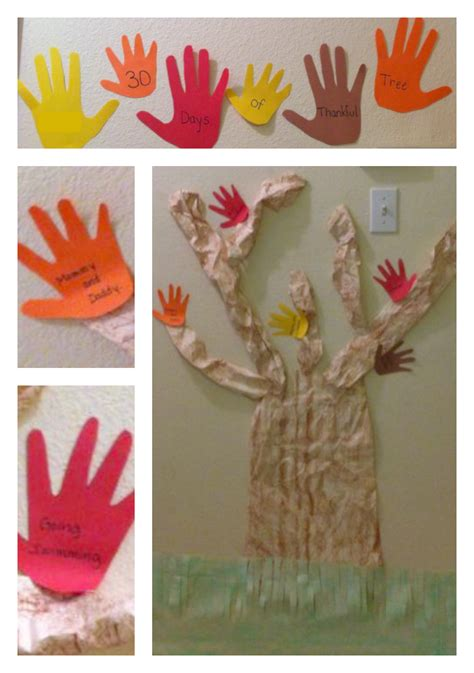 thankful crafts for 30 days of thankful tree thanksgiving craft for