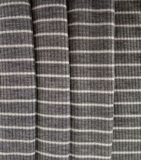 ribbed knit fabric apparel knit fabric tiny ribbed knit grey white stripe