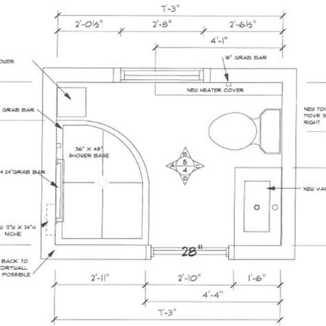 bathroom renovation floor plans small on space big on style accessibility