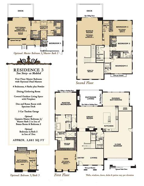 enclave floor plans new homes at enclave rancho santa fe floor plans