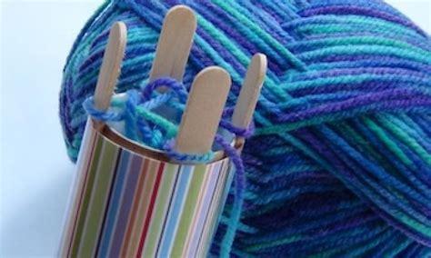 knitting crafts for winter craft make a knitting machine kidspot