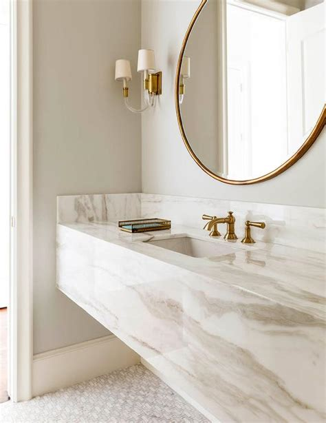 bathroom vanity marble white and gold bathroom with marble floating vanity