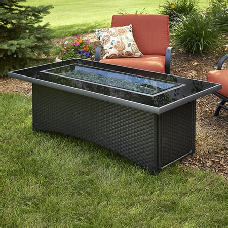 gas outdoor fireplaces pits montego gas pit coffee table black woodlanddirect