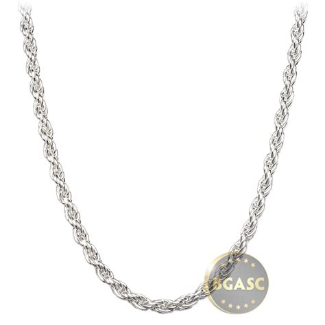 silver chains for jewelry buy sterling silver rope chain necklace 2 5mm 16 18 20