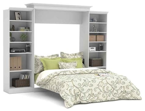wall unit bedroom furniture sets 115 in wall bed with storage units in white