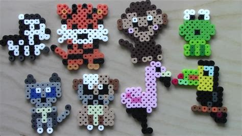 easy perler easy perler bead animals keychains and magnets 3