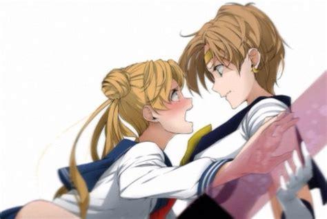 sailor moon yuri usagi and haruka sailor moon yuri style