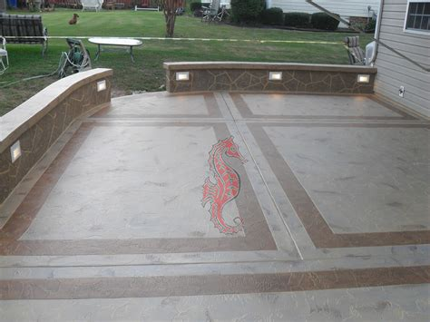 backyard concrete patio designs concrete patios greenville sc unique concrete design