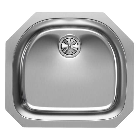 elkay stainless steel kitchen sinks elkay elumina undermount stainless steel 24 in single