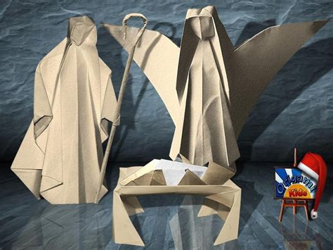 origami shepherd nativity by several artists designers and