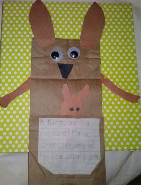 kangaroo crafts for 25 best ideas about kangaroo craft on