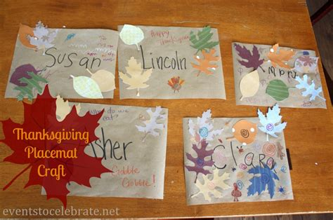 thanksgiving placemat craft for thanksgiving crafts for placemats events to