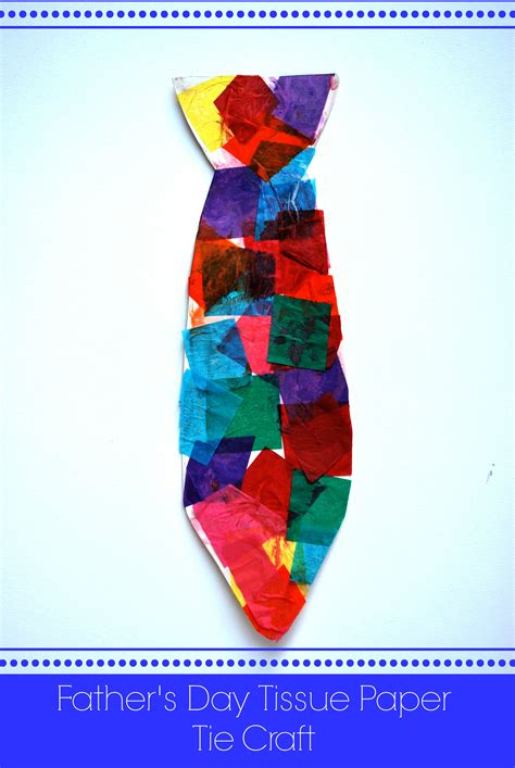 fathers day paper crafts s day tissue paper tie craft artzycreations
