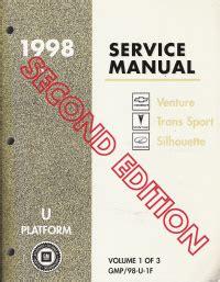 service and repair manuals 1998 pontiac trans sport electronic throttle control 1998 chevrolet venture pontiac trans sport oldsmobile silhouette u platform service manual