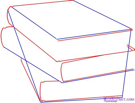 how to draw book how to draw a pile from three books with a pencil step by step