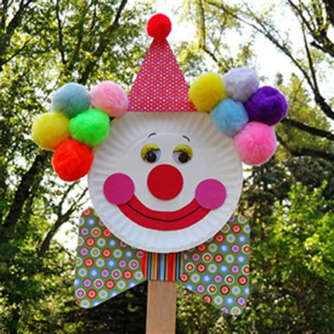 paper plate clown craft clown hat family crafts memes