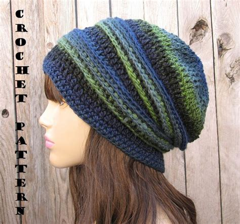 slouchy beanie knitting pattern for beginners crochet pattern crochet hat sl crochet hat patterns